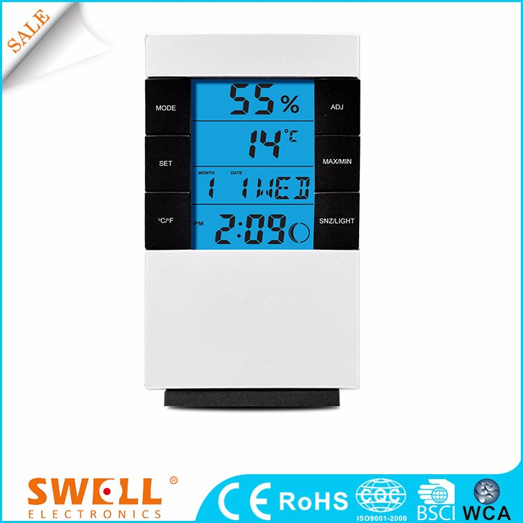 Wholesale digital alarm clock , weather station with different color