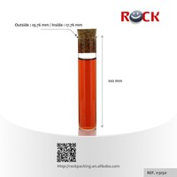 Clear Small mini cork bottle /glass tube bottle with cork lid