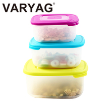 Microwave safe high quality 3pc freshness preservation plastic vacuum storage food container set with lid