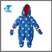 Latest Blue Stars Baby Boy Snowsuit