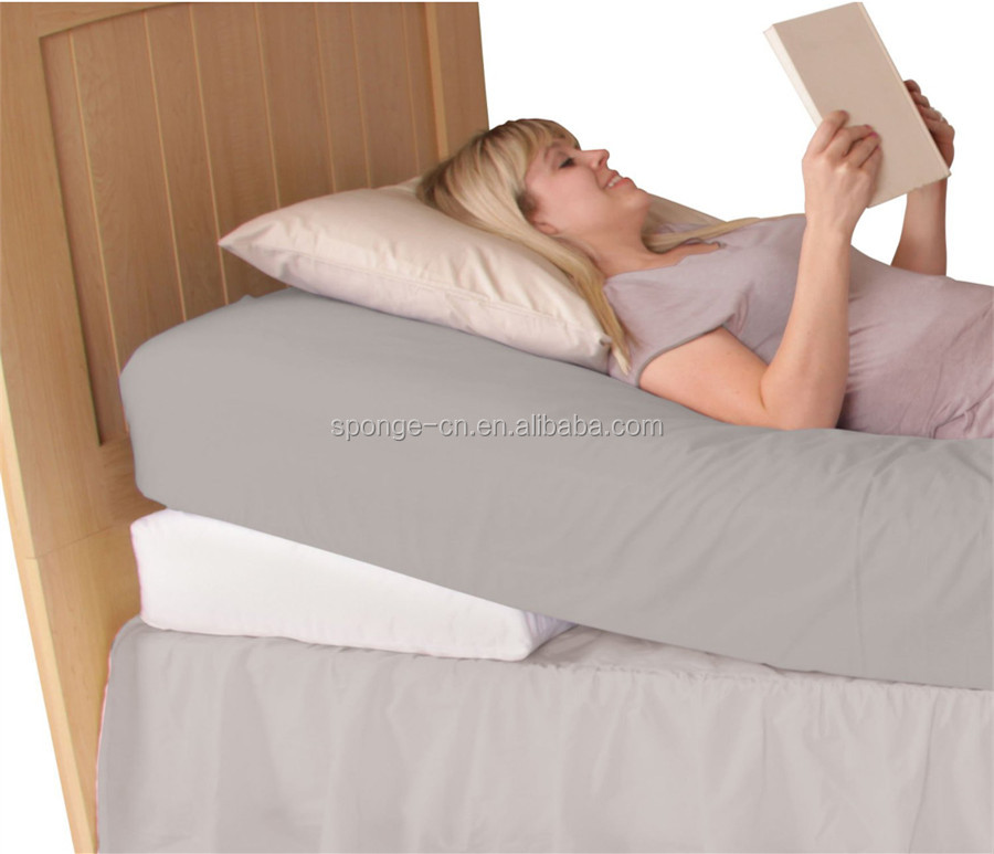 Memory foam wedge pillow positions, knee wedge pillow, sleep wedge pillow