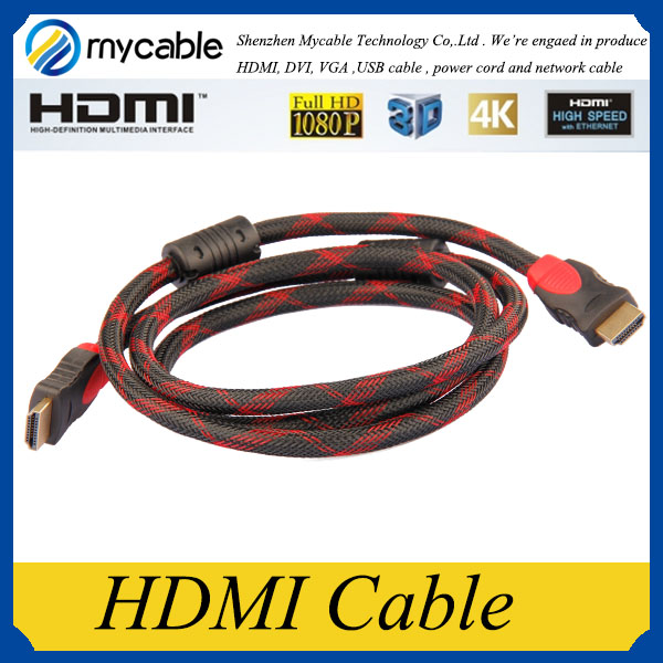 Shenzhen Mycable Metal Plated Supports Ethernet 3D 1.4 2.0 4K HDMI Cable
