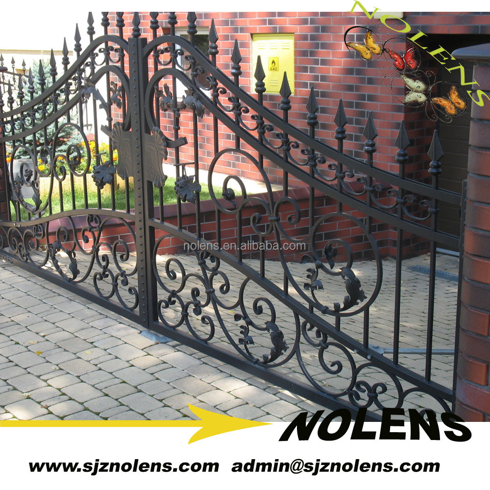 High Quality ,Strong Wrought Iron Gate Designs For Homes Made In China, Iron Gates