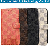 luxury grid mobile phone covers for apple iphone 6s wallet for iphone 6 case