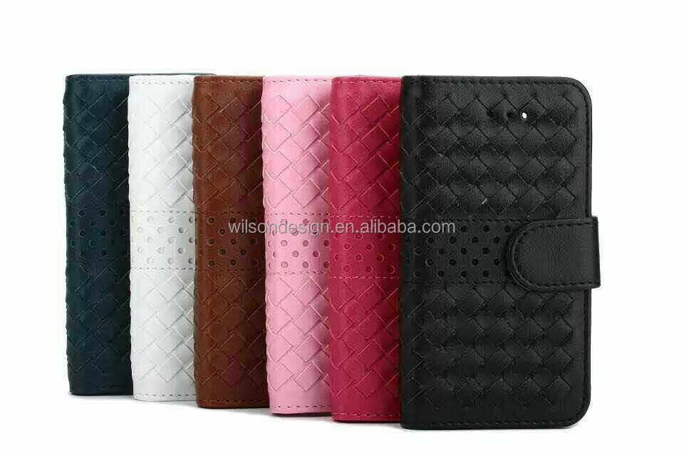 weaved pu phone case for cell mobile phone