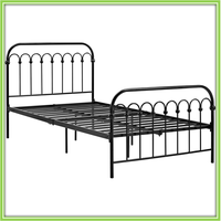Direct Sale Cheap Metal Bed Frame Double / Single Labor Bed Dorm Bed In Discount