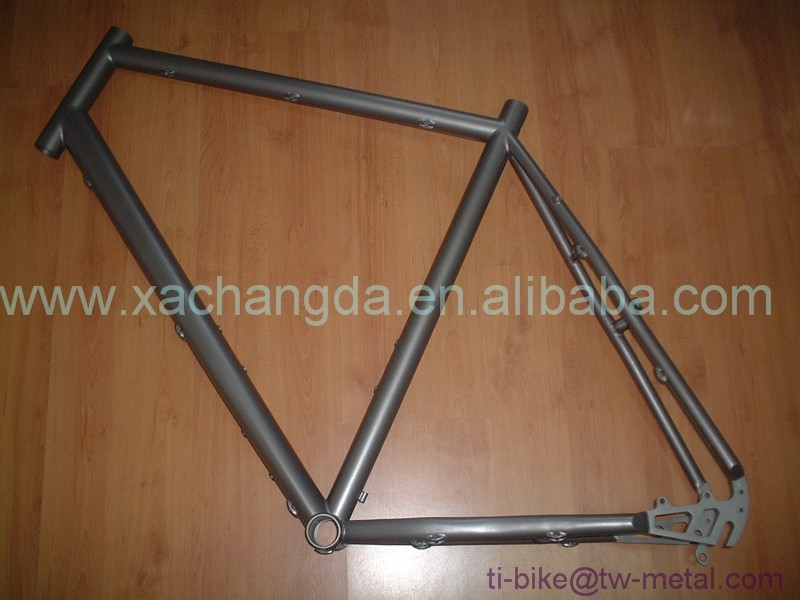 Cheap Titanium Road Bicycle Frame Titanium Touring Bicycle Frame Ti racing Bike Frame customized 700C
