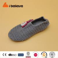 Light weight breathable thin knitting best quality handmade comfort cheap house EVA shoes