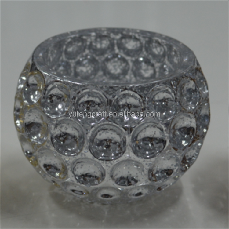 sliver mercury glass candle bowl glass tealight holder crystal candle holder centerpieces