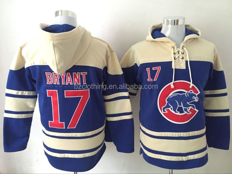 Chicago Cubs Kris Bryant #17 Blue Hoodies