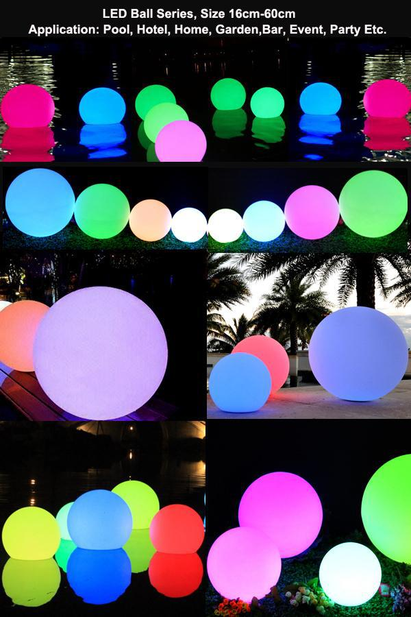 Plastic outdoor led christmas lights sphere with 16 colors change