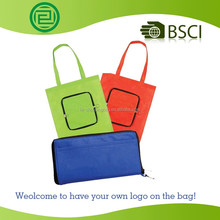 BSCI Custom new design non woven fabric folding ultrasonic non woven bag