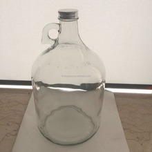 One gallon screw finish glass bottle with aluminum cap for sale