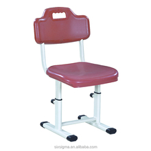 Single plastic seat School desk and chair