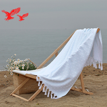 China Manufacturer Custom New Design Plain Dyed Jacquard Cotton Soft Beach Towel