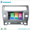 Silver color double din car stereo android car dvd player with gps bluetooth tv for Citroen c4 2004-2012