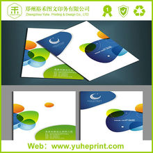 Custom size DL floder directly factory price CMYK printing hair color catalogue