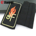 Promotional shoulder epaulets OEM sew on embroidery epaulet