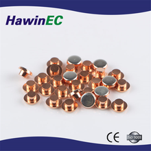 Factory directly sell flat head copper contact rivet