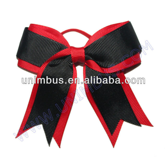 red/black grosgrian ribbon bottle neck decorative bow