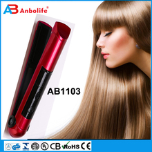 Anbo 2017 professional steam hair straightener with comb antique hair brush straightener