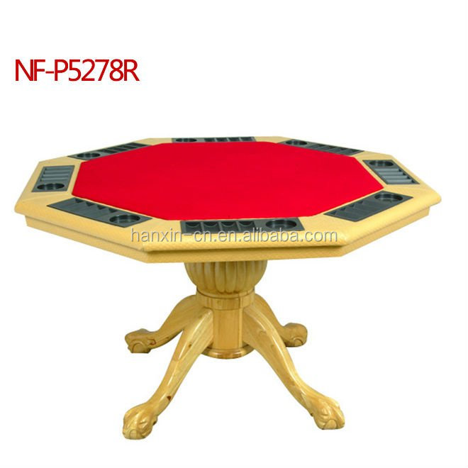 Wholesale 8 person poker table octagon wood poker table for sale