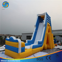Outdoor inflatable water and dry slide