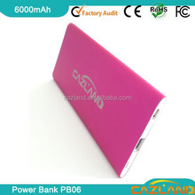 2015 new products 6000mah high quality mobile power bank for microsoft