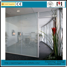 Aluminum frame double channel clear toughened glass sliding door