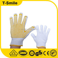 Cheap Safety Glove Dotted Cotton Knitted Gloves Rubber Grip Dot White Cotton Glove