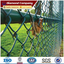 OA payment 2.4m high 10 gauge tension wire post cap metal fence metal chain link fence