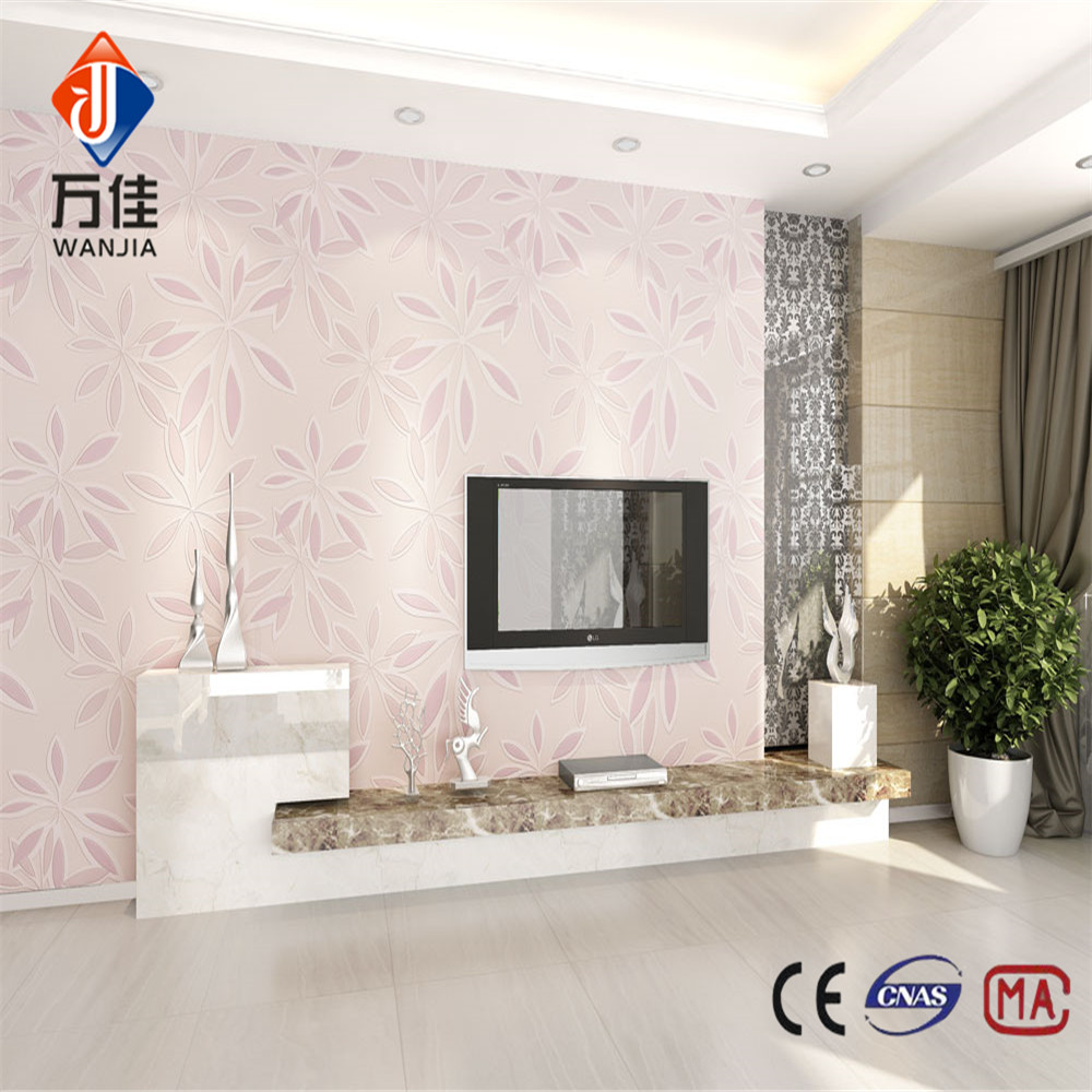 Classic Non-woven water-proof Beautiful flower wallpaper for home