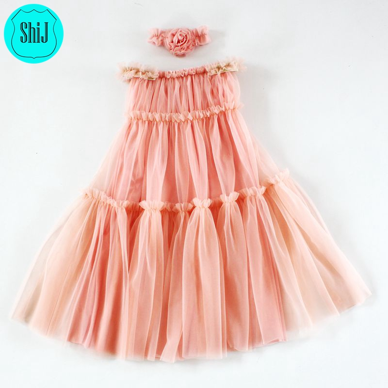 ShiJ Lovely Long Maxi Kid Dress baby girl party dress children frocks designs