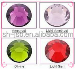 glass beads rhinestone crystal hot-fix rhine stone for clothing