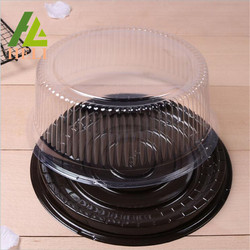 Circle Shape Disposable Plastic Birthday Cake Boxes