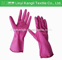 cheapest chemical resistant industrial latex glove manufacture in china HOT SELL pink color latex protective gloves