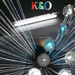 Hot selling Clear Crystal end fitting for fiber optic curtain