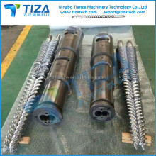 Conical/Parallel Twin Screws & Barrels for uPVC Pipes and Profiles Extrusion Lines, extruder screw and barrel