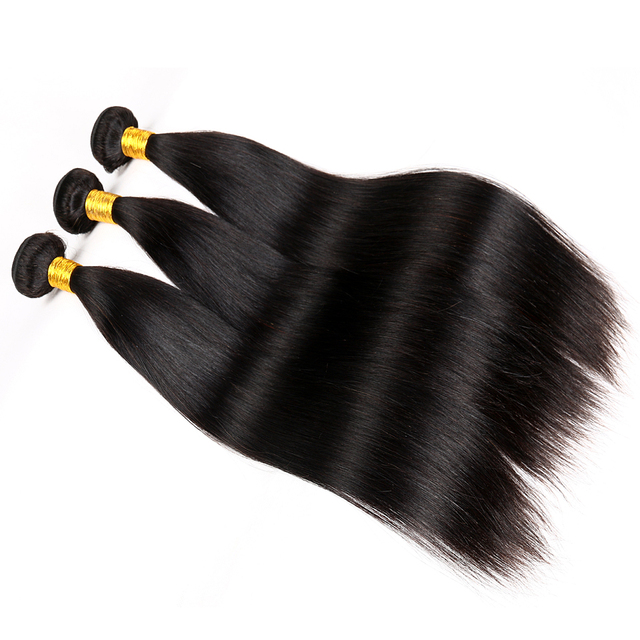 Straight weave brazilian hair wholesale unprocessed 100% raw grade 8A wave bundles natural color