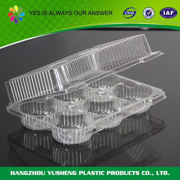 Cheap promotional plastic container for cake
