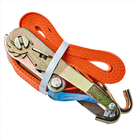 High quality polyester 1m 2m 4m 6m 10m ratchet tie down straps ,25mm 50mm 100mm cargo lashing belt strap