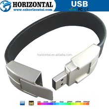 Alibaba china adjustable silicon wristband USB memory stick for men