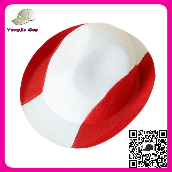 Promotional World Cup Fashion Fedora Trilby Gangster Cap Cheape fedora hat women panama