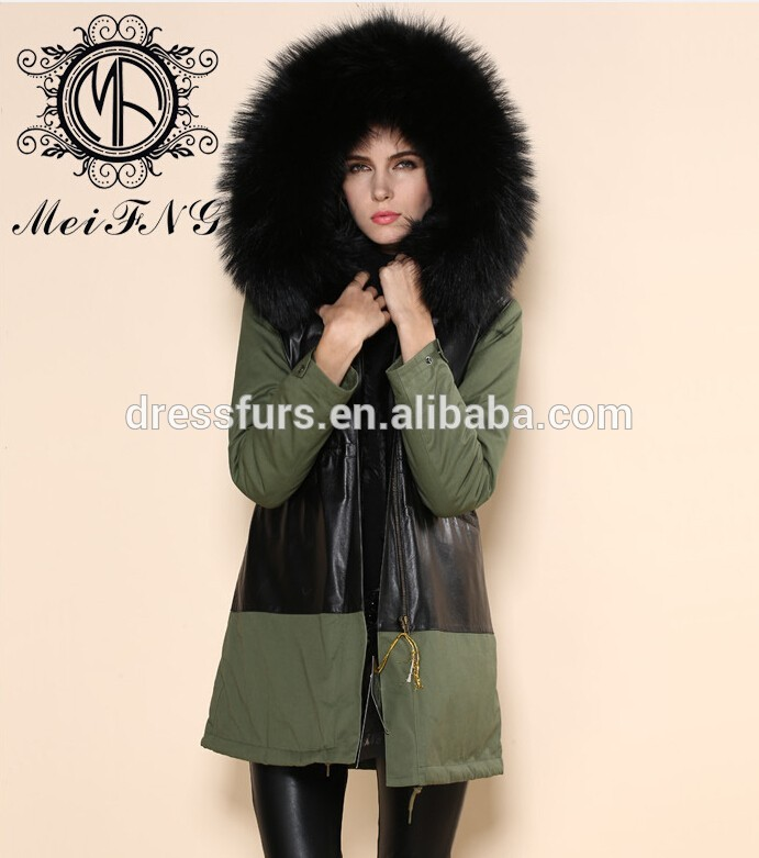style long en ligne vente de fourrure parka en fausse fourrure manteau d 39 hiver manteau de. Black Bedroom Furniture Sets. Home Design Ideas