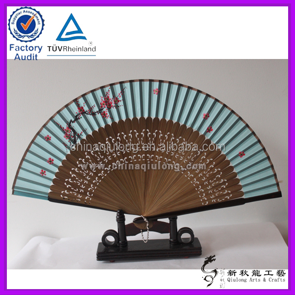Manual High-end Bamboo Hand Folding Fan Frame for wedding Decoration