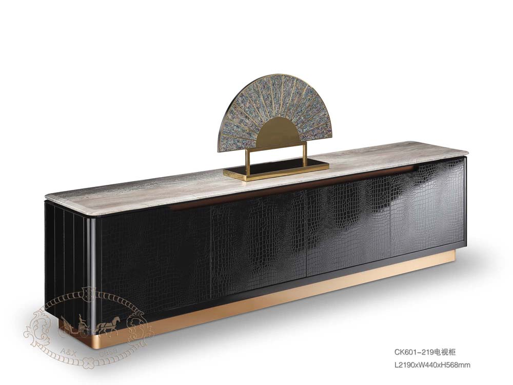 Black rose gold modern dining sideboard luxury hotel furniture sideboard living room