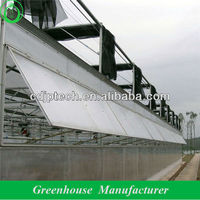 polycarbonate greenhouse with ventilation window