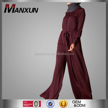 New Design Women Jumpsuit Long Sleeve Muslim Clothes Fashionable Islamic Women Jumpsuit Wholesale Online