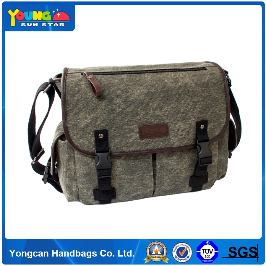 most fashion canvas leather messenger bags for men