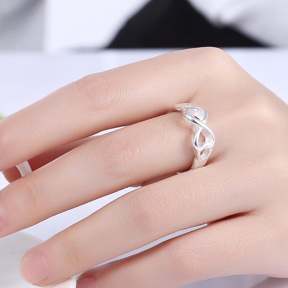 Classic Infinity Rings for Women Best Sister Best Friend Jewelry ...